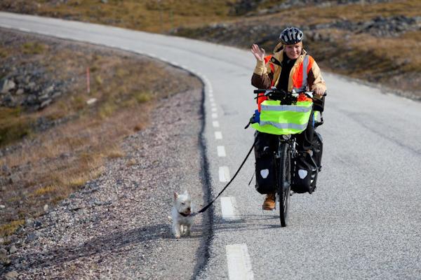 Biking Norway. Tulku ir Vilgailė Kira